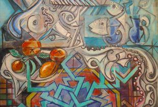 Estel de Zel - ligs, 147 x 89 cm, 2007, Mixmedia auf Leinwand
