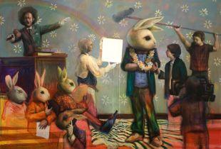 Auction, 200 x300 cm, 2010, Acryl auf Leinwand