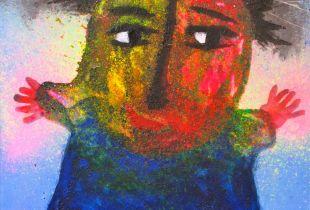 Chica Timida, , 92 x 73 cm, 2011, Öl auf Leinwand