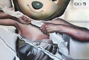 Hungarian Tv Bear, , 200 x 150 cm, 2009, Öl auf Leinwand