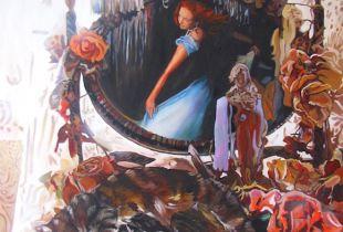 Damen Kabinett, 130 x 95 cm, 2011, Öl auf Leinwand