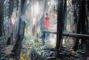 Dem Licht entgegen, 40 x 65 cm, 2014, Mixmedia auf Leinwand
