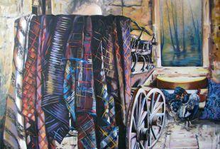 Die Reisende, 160 x 140 cm, 2012, Öl auf Leinwand