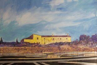 Finca ces Toltes - San Lorenzo de Cardessar, Dornhege, Hans-Georg, 190 x 200 cm, 2011, Öl auf Leinwand