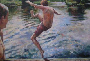 Fluss Springer, , 115 x 195 cm, 2007, Acryl auf Leinwand