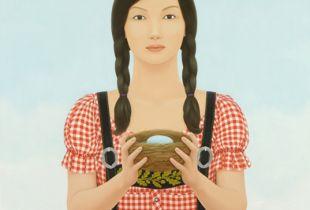 Fremdes Nest, Kim, Min Clara, 115 x 95, 2011, Öl auf Leinwand