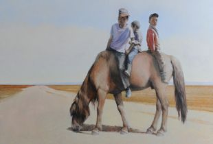 Geschwister, , 150 x 130 cm, 2012, Öl auf Leinwand