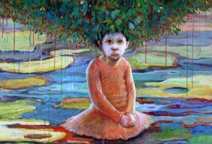 Girl, , 170  x 140 cm, 2012, Acryl auf Leinwand