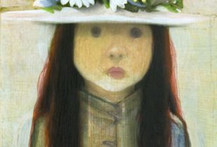 Blumenmädchen, , 50 x 40 cm, 2012, Acryl auf Leinwand
