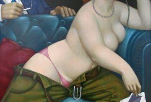 Happy Hour, 150 x 150 cm, 2006, Acryl auf Holz