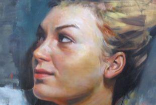 Head Note, 30 x 30 cm, 2015, Öl auf Holz