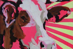 Holy Cow, 60 x 60 cm, , Mischtechnik auf Leinwand