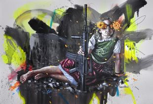 Intervention 27 - Idyllekind , 120 x 180 cm, ,