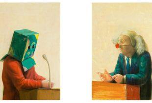 Interview, , je 70 x 50 cm, 2012, Aycrl auf Leinwand