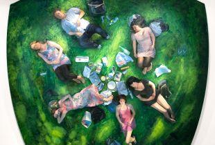 Picknick, , 248 x 276 x 15, 2009, Öl auf Leinwand