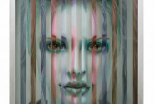 Multipersonality #37, 102 x 95 x 5 cm , 2013, Öl auf Holz