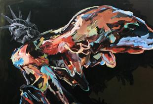 Neue Siegesgöttin, , 185 x 150 cm, 2006, Acryl auf Leinwand