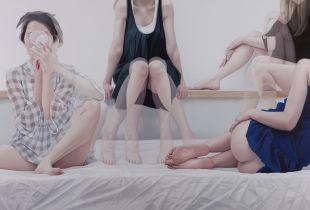 Overlapping, , 130 x 200 cm, 2014, Öl auf Leinwand