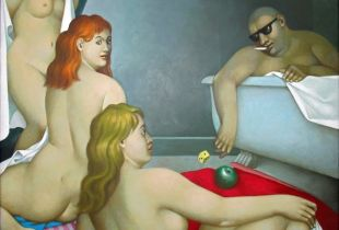 Das Parisurteil, 130 x 130 cm, 2010, Acryl auf Leinwand