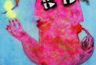 Mujer con Mariposa, , 130 x 162 cm, 2011, Öl auf Leinwand