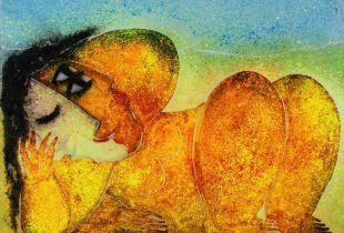 Mujer Naranja, , 89 x 116 cm, 2011, Öl auf Leinwand