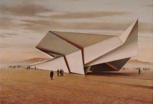 Besucher, 90x120 cm, 2011, Öl auf Leinwand