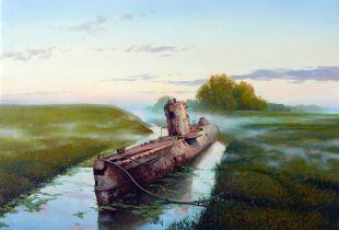 U-Boot, , 90x120 cm, 2010, Öl auf Leinwand