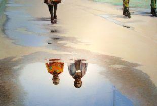 Spiegelung, , 120 x 140 cm, 2012, Öl auf Leinwand