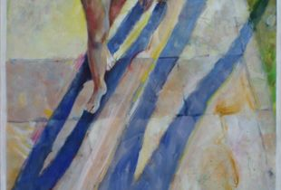 Strandläufer, , 200 x 95 cm, 2010, Acryl auf Leinwand