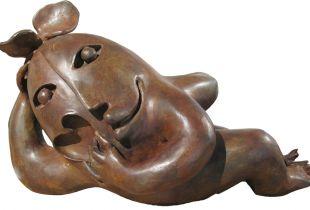 Tumbada, , 120 cm , 2012, Bronze