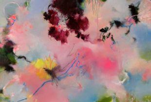 Wir kaufen Herzen bei dem Blumenmädchen, , 100 x 120 cm, 2012, Öl auf Leinwand