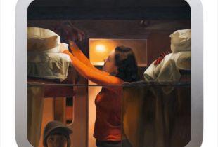 Zugfenster #38, , 102 x 109 cm, 2013, Öl auf Dibond