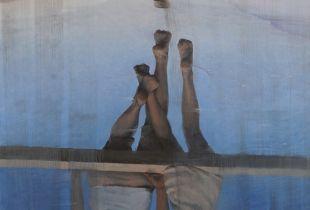 Zwei Welten, , 180 x 130 cm, 2012, Öl auf Leinwand