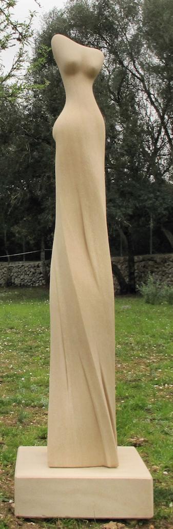 Con el impulso VI, 170 cm, 2016, Santanyi Stein